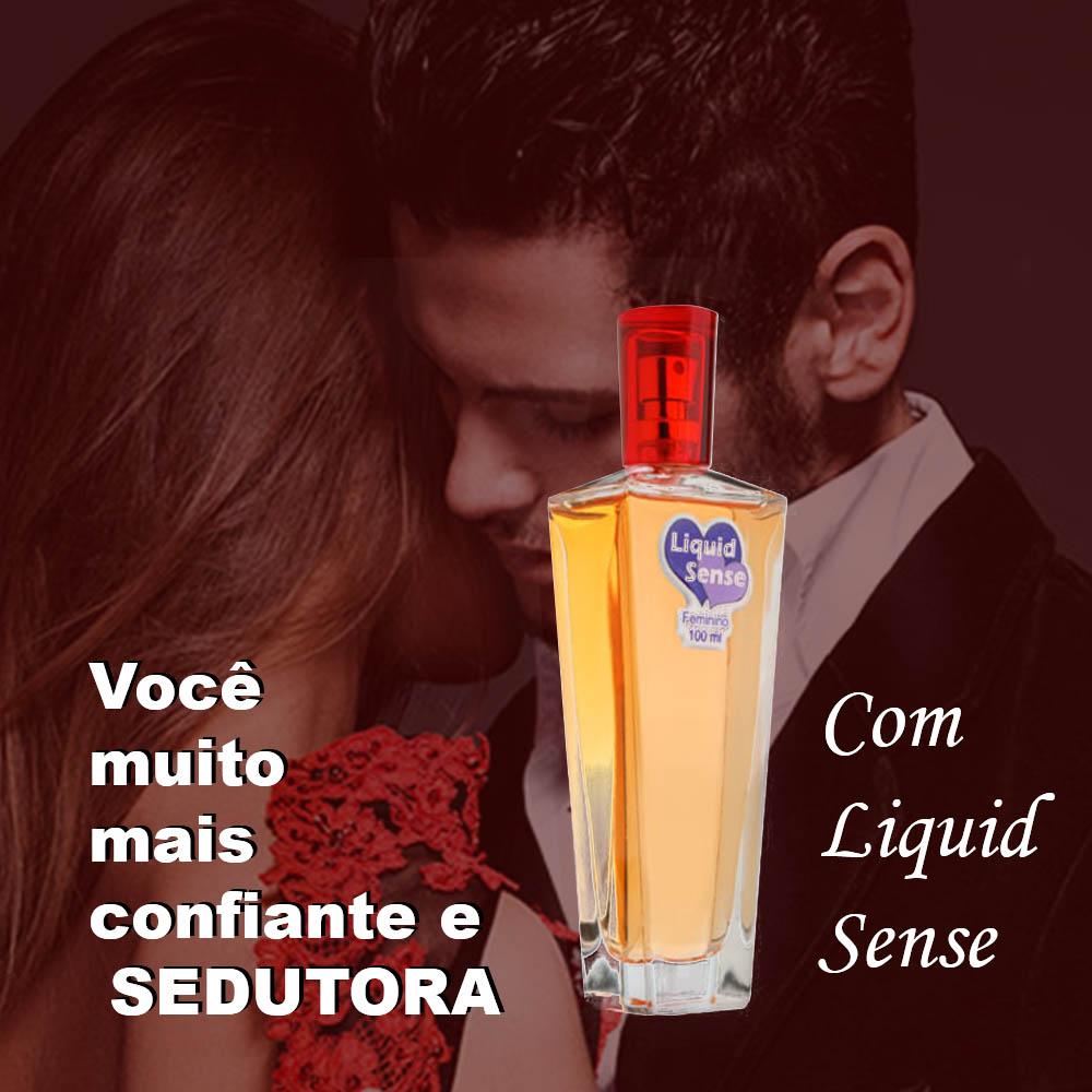 Perfume Liquid Sense 100ml (3 frascos) Gotas Mágicas