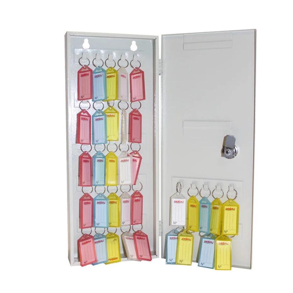 Porta Chaves Claviculário 35 Chaves com 35 chaveiros Coloridos