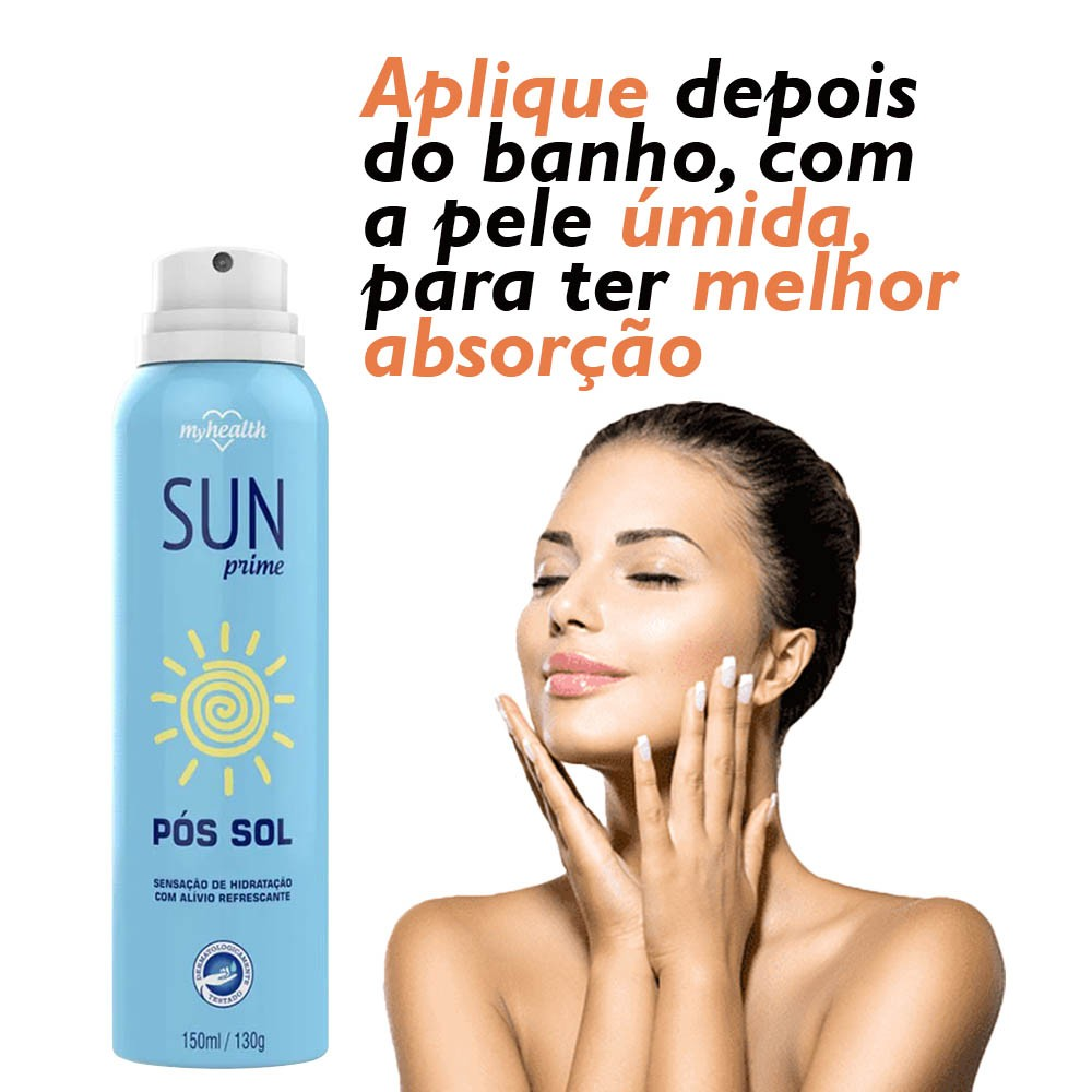 Pós Sol Sun Prime 150 ml 2 Unidades, protege e hidrata