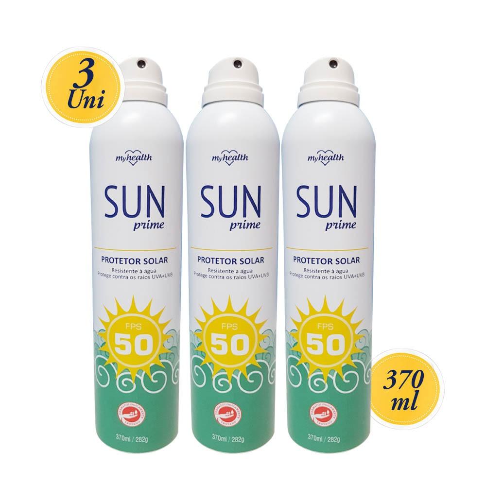 Protetor Solar Sun Prime 3 Unidades, protetor solar fator 50