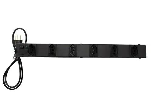 Filtro de linha, extensão 6 tomadas, régua  rack 19  5 unidades