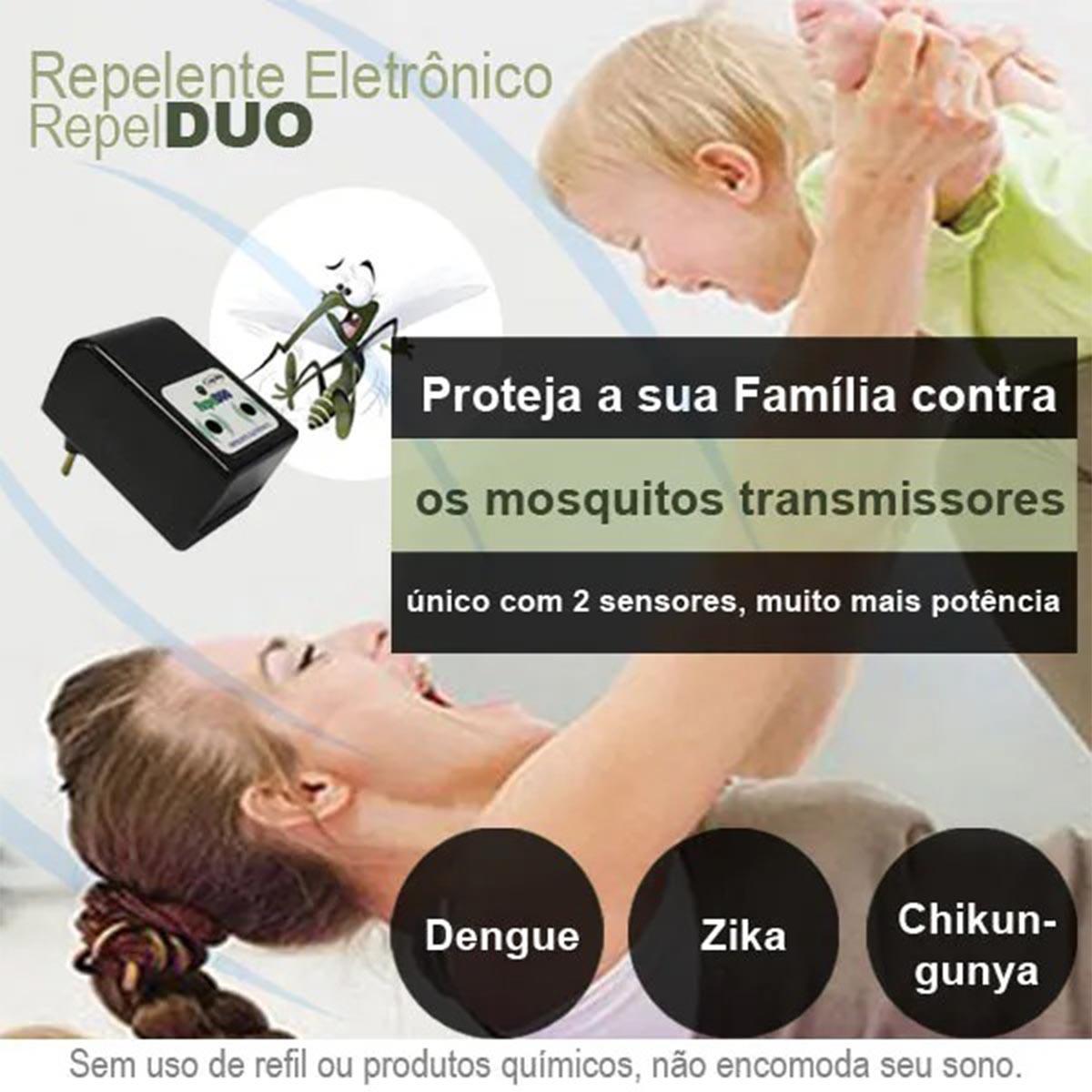 Repelente Eletronico Repel DUO repele pernilongos e mosquitos