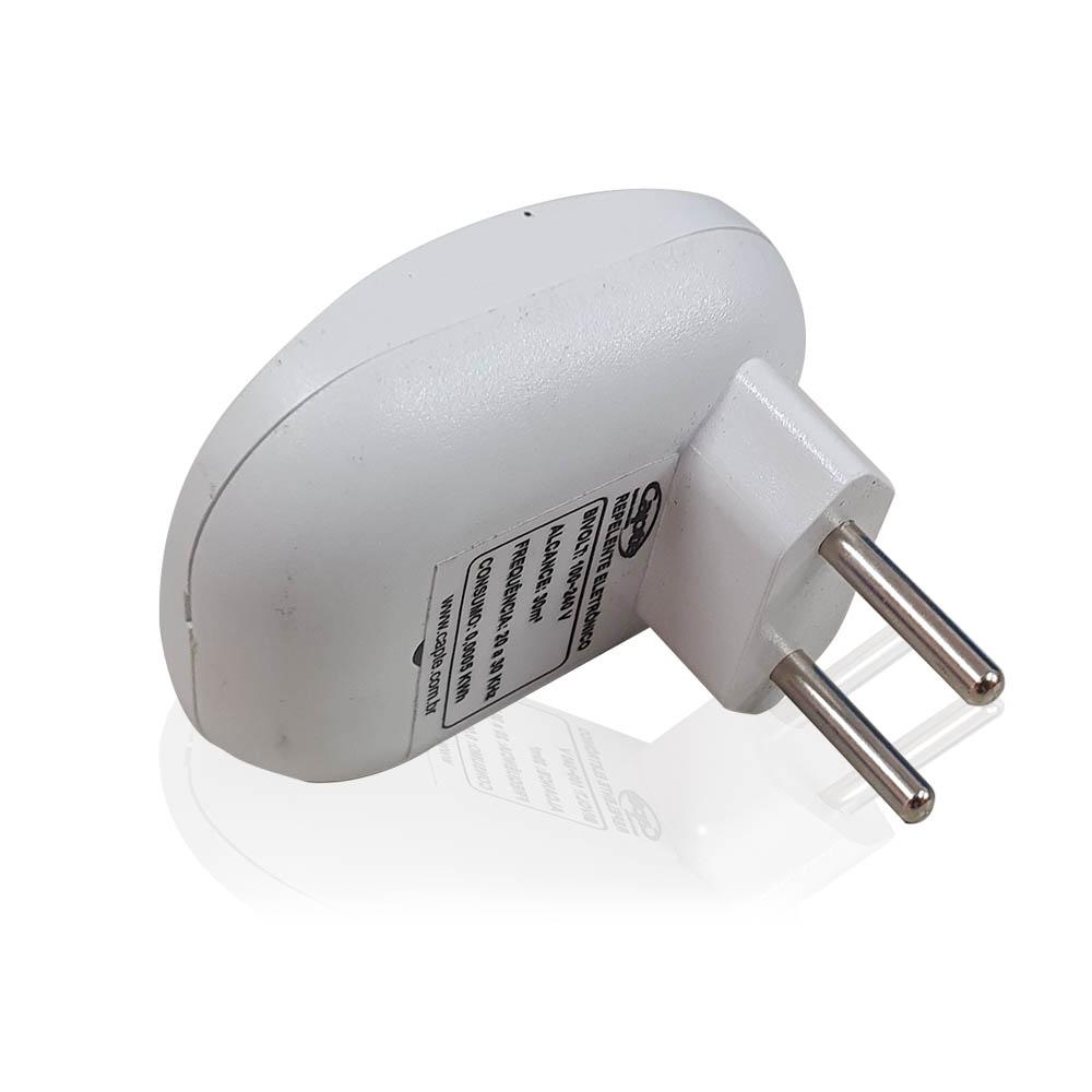 Repelente Eletrônico Repel Max Branco Bivolt Inaudível Econômico Leve 5 Unidades