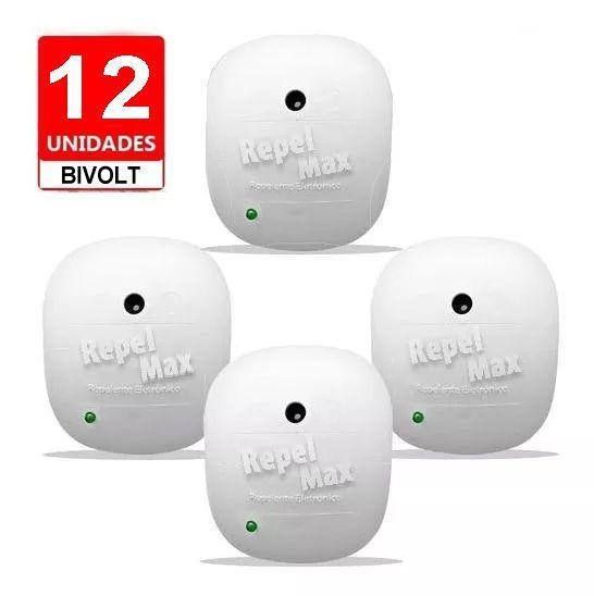Repelente Eletrônico RepelMaX branco, Bivolt, Inaudível, Econômico, Leve 12 Unidades