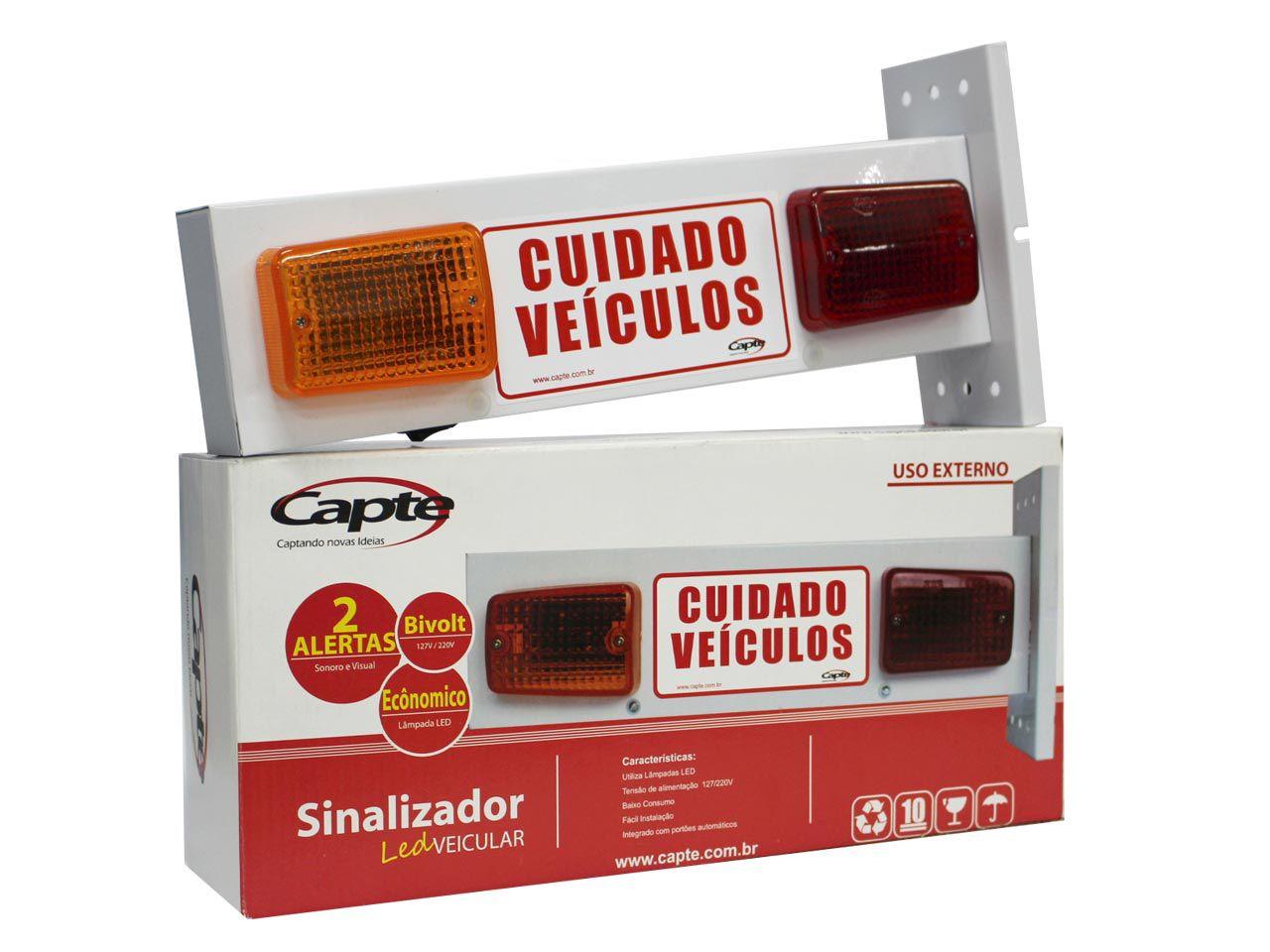 Sinalizador De Garagem Sonoro Veicular LED + Placa Temporizadora