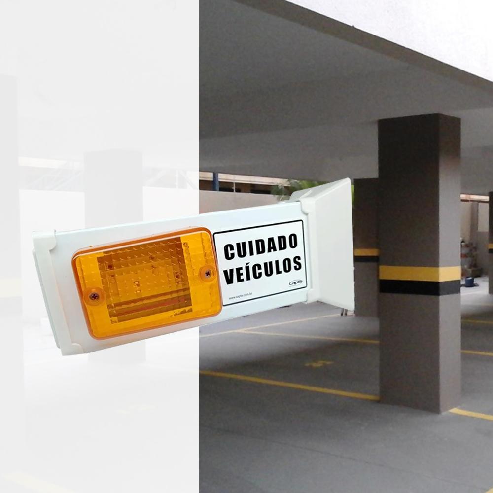Sinalizador de garagem veicular Capte aviso visual sem som