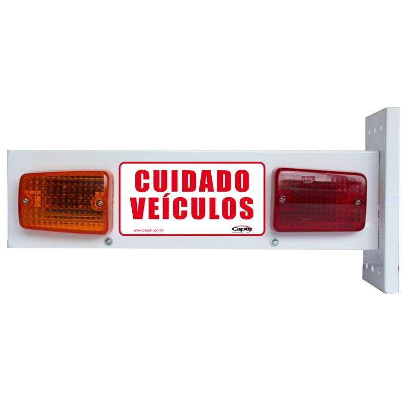 Sinalizador de veicular Garagem Entrada e Saída de Veículos Led - Bivolt LED12