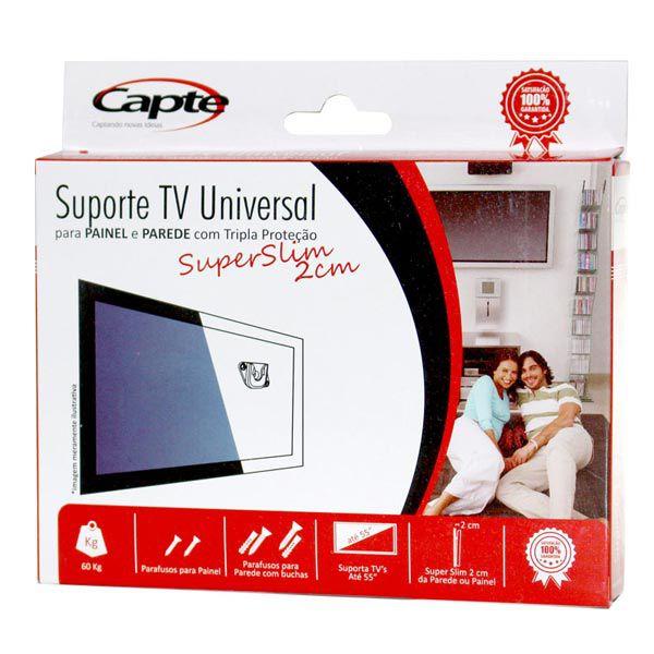 Suporte TV Universal Para Painel e Parede Super Slim - Kit com 2 unidades