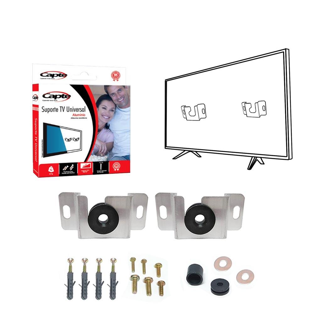 Suporte de parede para tv smart, fixo alumínio