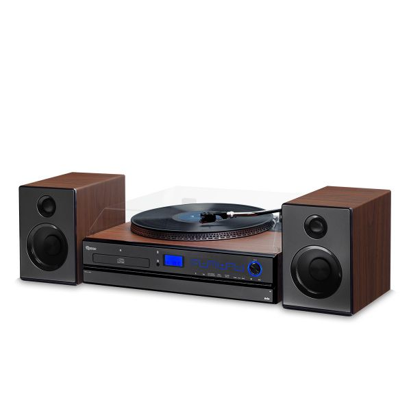 Vitrola Toca Discos Raveo Aria - Vinil, Cd, Rádio, Fm, USB Reproduz e Grava Bivolt