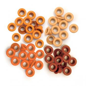 Eyelets Standard Orange - 40 Ilhoses Orange 41574-9  - Minas Midias