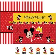 Folha para ScrapFesta Dupla-face Disney - Mickey Mouse 1 Cenário e Bandeirolas