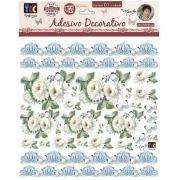 Adesivo Decorativo Crisantemos Branco by Mamiko