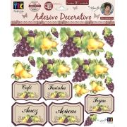 Adesivo Decorativo Frutas e Rótulos by Mamiko - FORA DE LINHA