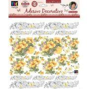 Adesivo Decorativo Hibiscos Amarelo by Mamiko