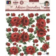 Adesivo Decorativo Rosas Vermelhas by Mamiko