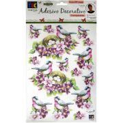 Adesivo Decorativo Transparente Pássaro com Ninho by Mamiko