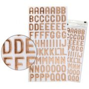 Adesivo Thickers EVA Alfabeto Foil Cobre (Thickers Stickers)