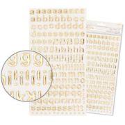 Adesivo Thickers EVA Alfabeto Foil Ouro (Thickers Stickers)