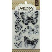 Carimbo Borboletas - Butterfly Kisses Stamp Bo Bunny
