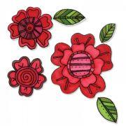 Carimbo e Faca Sizzix - Flowers #5