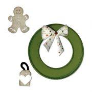 Faca de Corte Sizzix Wreath & Gingerbread Man