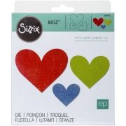 Faca de Corte Sizzix Bigz Die - Heart Trio - 3 Corações