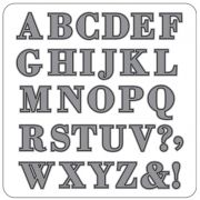 Faca para Corte e Relevo Extra Grande Alfabeto