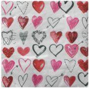 Guardanapo para Decoupage - Corações Diversos
