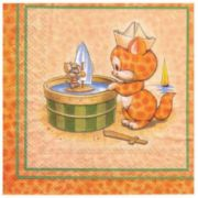 Guardanapo para Decoupage - Gato e Rato