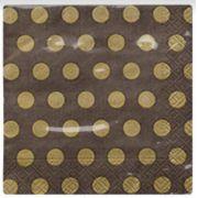 Guardanapo para Decoupage - Poá Dourado