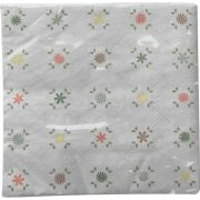 Guardanapo para Decoupage - Xadrez Floral
