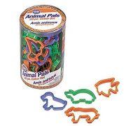 Kit com 50 Cortadores de Animais - Plástico