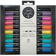 Kit de Canetas Duas Pontas para Caligrafia e Artesanato c/10 un Kelly Creates AC