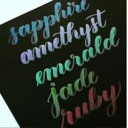 Kit de Canetas Pincel Metálicas para Caligrafia e Artesanato Kelly Creates AC