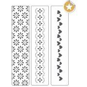 Kit de Placas para Relevo 2D Corações e Flores 32 x 146 mm c/ 3 un