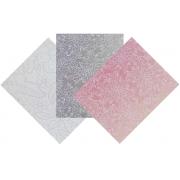 Kit Papel Renda - Branco, Prata e Rosa - 15 FOLHAS