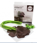 kita para Fazer Flores Marrom - Brown Crepe Paper flower kit We R
