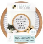 Mural Letreiro Circular - Roundwood Letterboard