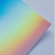 Papel Laminado Holográfico Arco-Íris 180g A4
