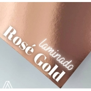 Papel Laminado Rose Gold 250g A4