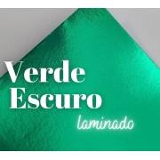 Papel Laminado Verde Escuro 250g A4