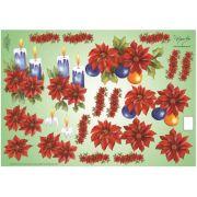 Papel para Decoupage 3D - Flores Vermelhas by Mamiko