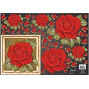 Papel para Decoupage 3D - Rosa Vermelha Exuberante by Mamiko