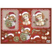 Papel para Decoupage 3D - Ursinhos de Noel by Mamiko