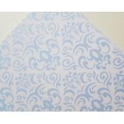 Papel Perolizado Arabesco Azul 180g A4