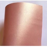 Papel Perolizado Color Rose Gold 180g A4