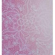 Papel Perolizado Renda Rosa 180g A4