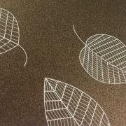 Papel Relux Decorado Folhas Café 180g 30,5 x30,5cm