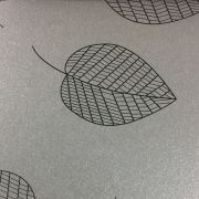 Papel Relux Decorado Folhas Platino 180g 30,5 x30,5cm